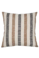 Knotted Stripe Charcoal Pillow 14x36""