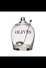 Glass Olive Jar