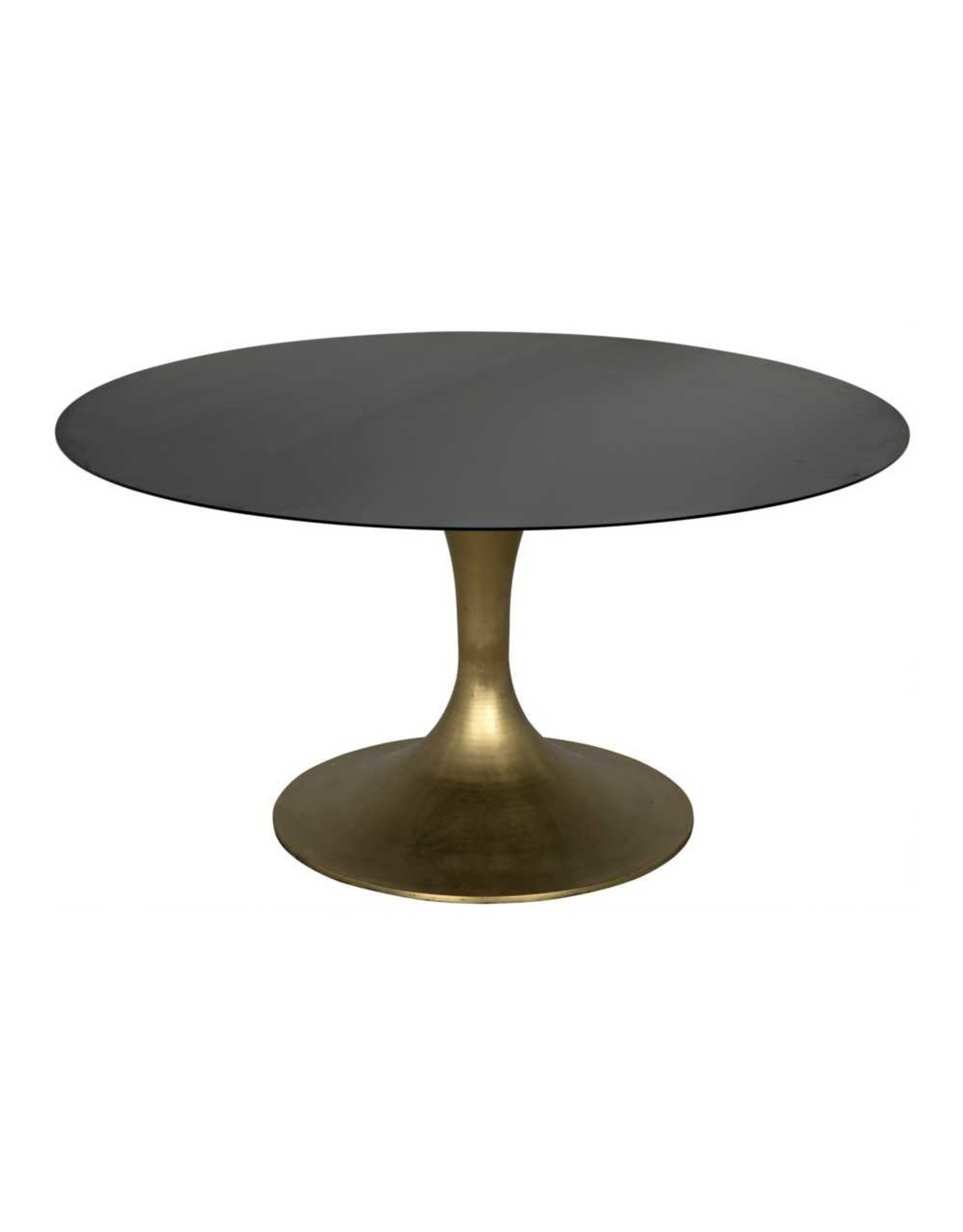 Website Noir Herno Dining Table - Metal with Brass