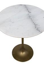 Website Noir Laredo Bar Table - Antique Brass and White Stone