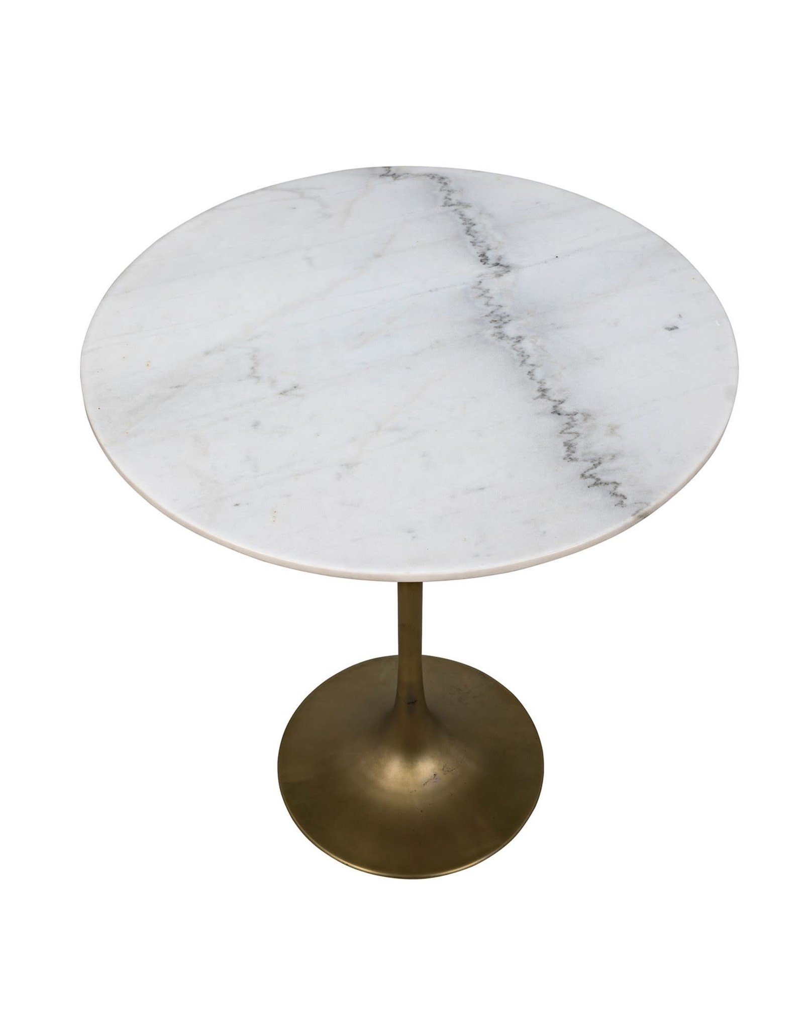 Website Noir Laredo Bar Table - Antique Brass and White Stone