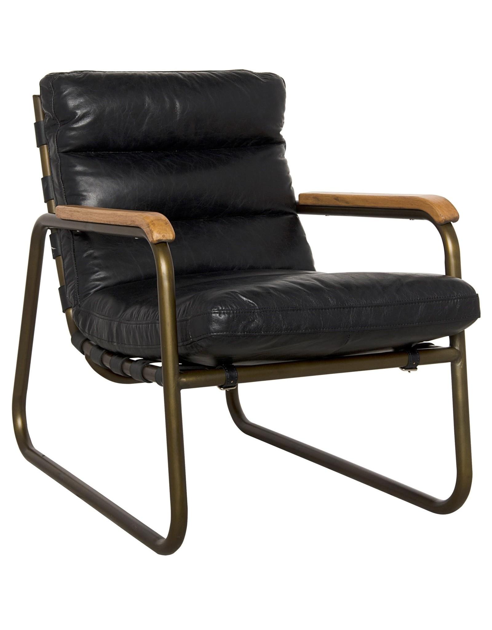 Website Noir Cowhide Arm Chair