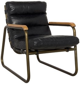 Website Noir Cowhide Arm Chair