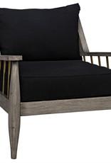 Website Noir Strasbourg Chair - Distressed Grey