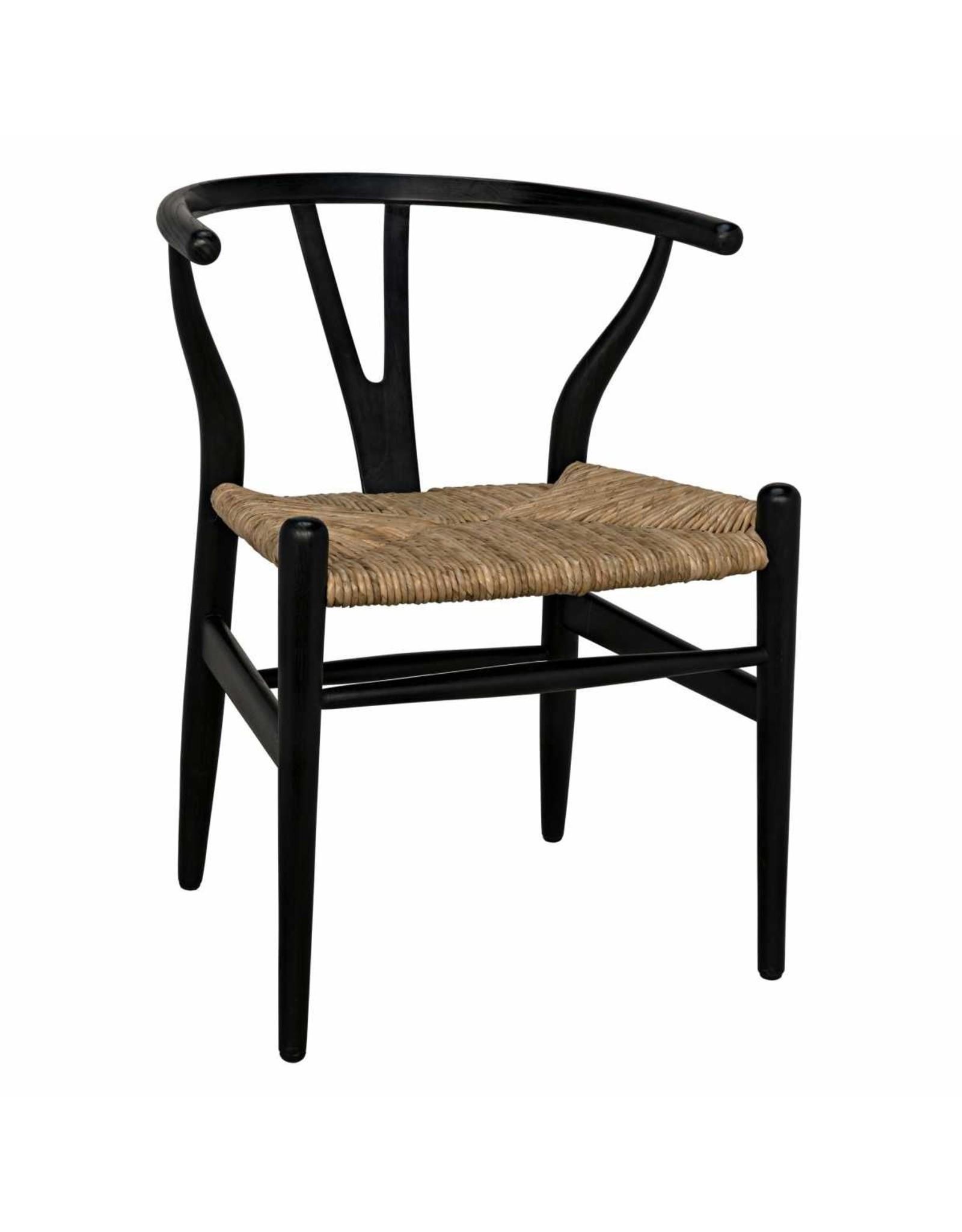 Website Zola Chair - Charcoal Black w/Rush Seat