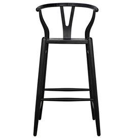 Website Noir Zola Bar Stool - Charcoal Black