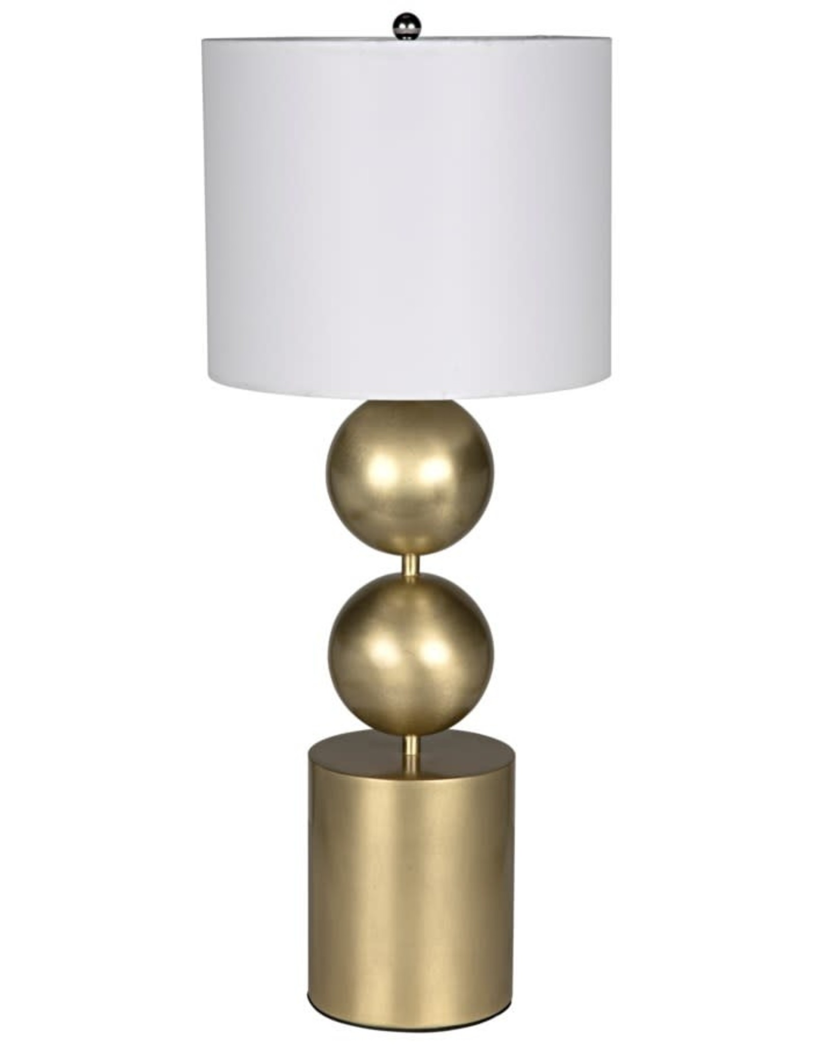 Website Noir Tulum Table Lamp - Metal with Brass Finish