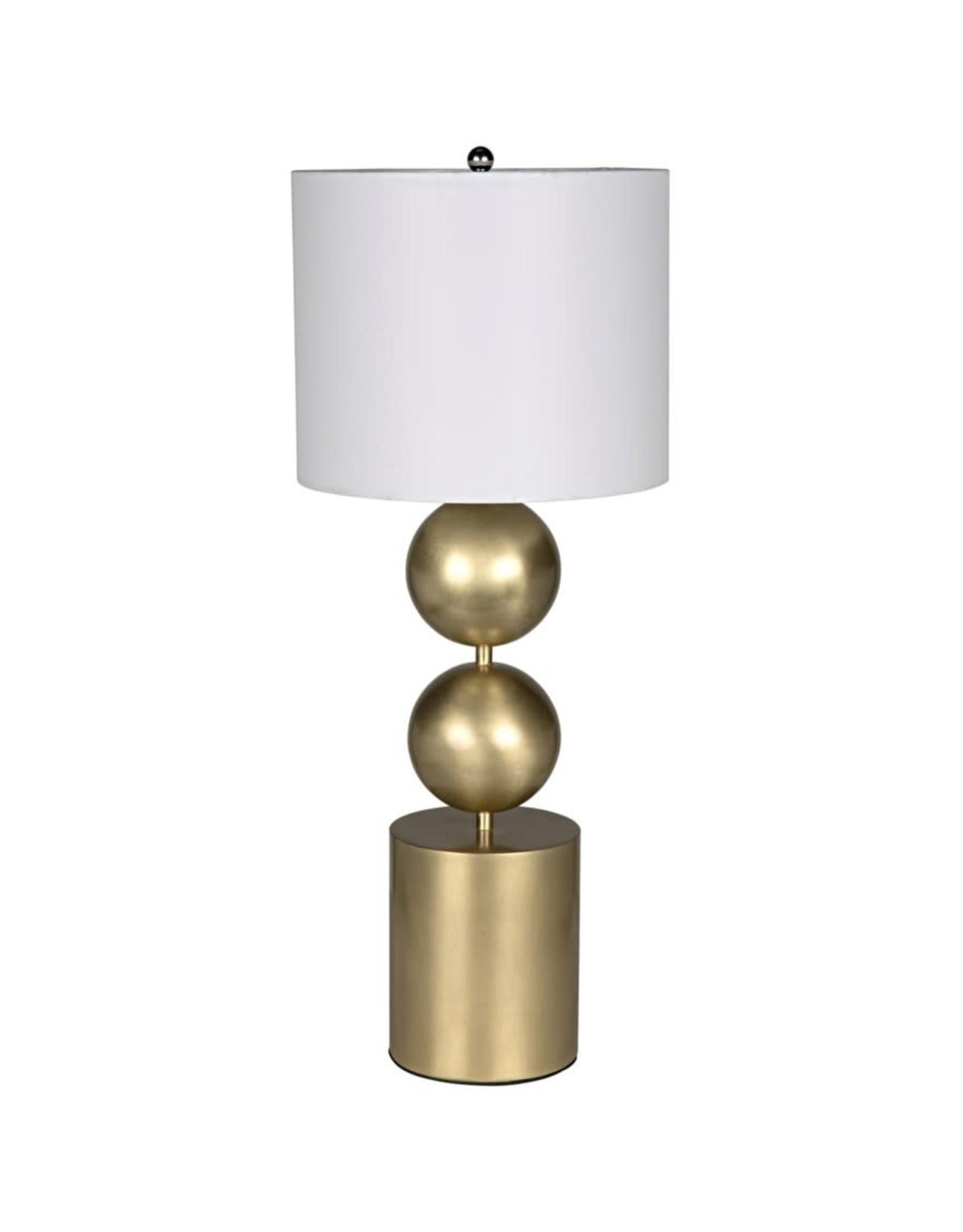 Website Noir Tulum Table Lamp - Metal with Brass Finish