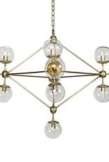 Website Pluto Chandelier - Large Antique Brass