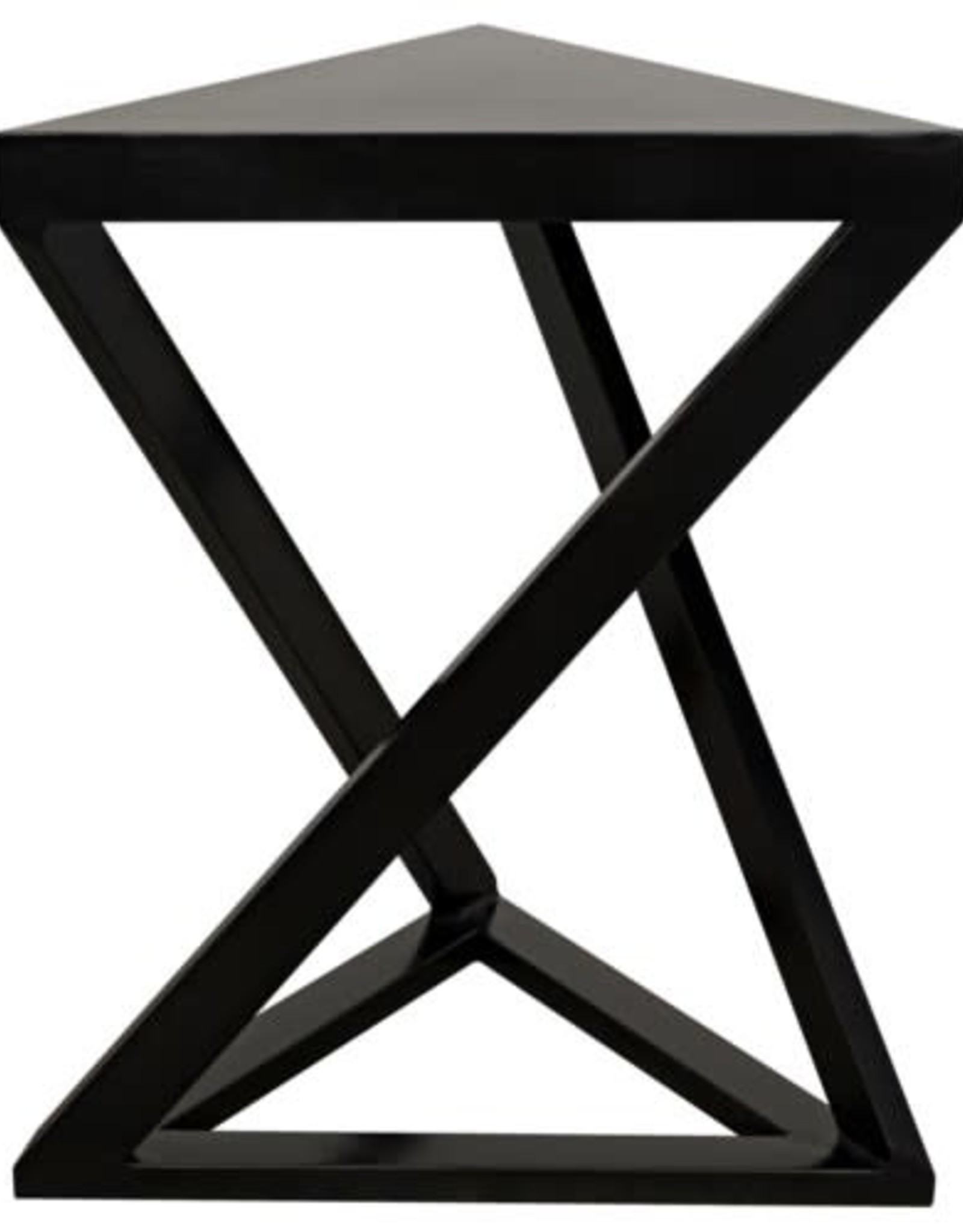 Website Noir Orpheo Side Table - Black Metal
