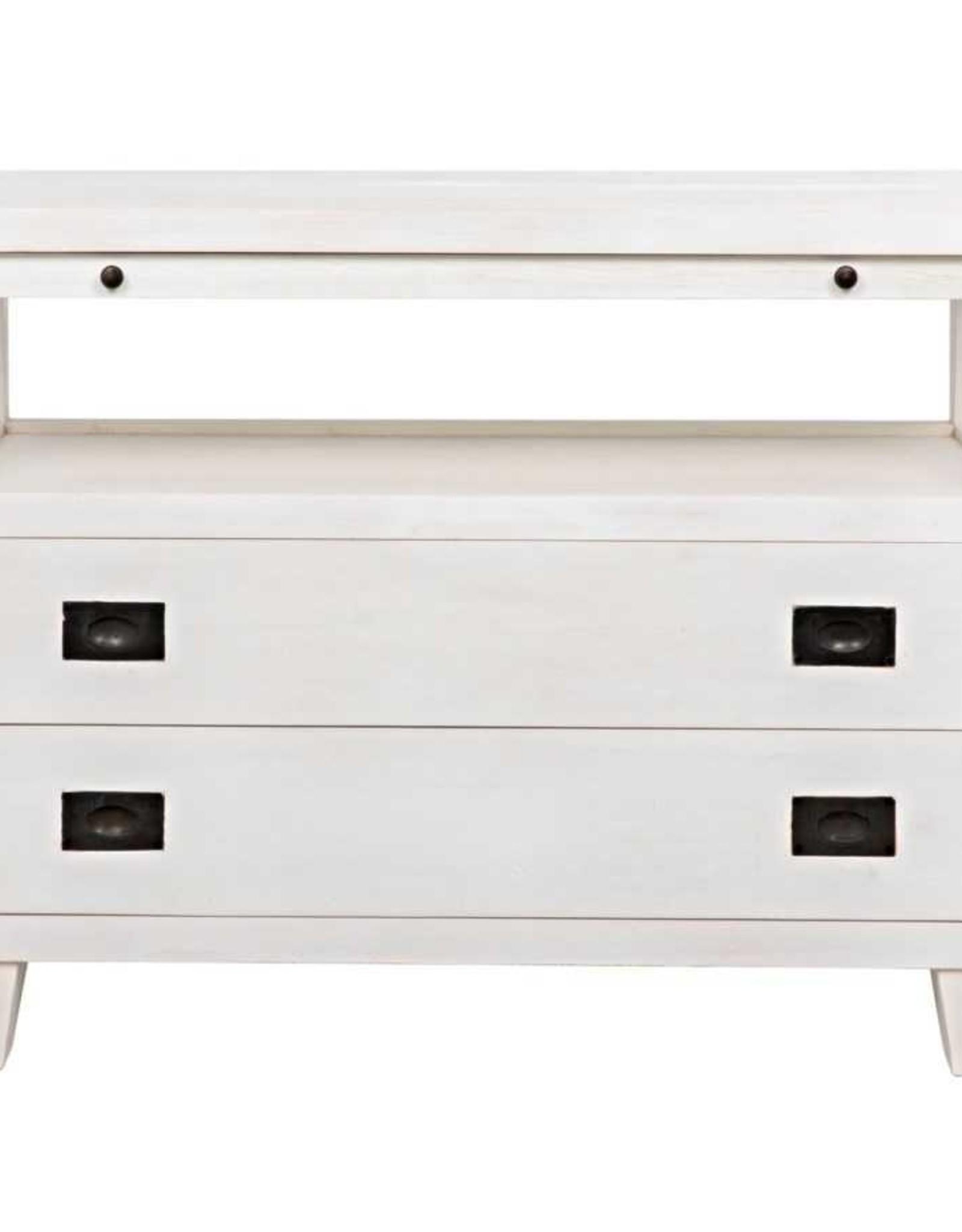 Website Noir 2 Drawer Side Table w/Sliding Tray