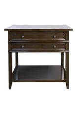 Website Noir Colonial 2-Drawer Side Table - Distressed Brown