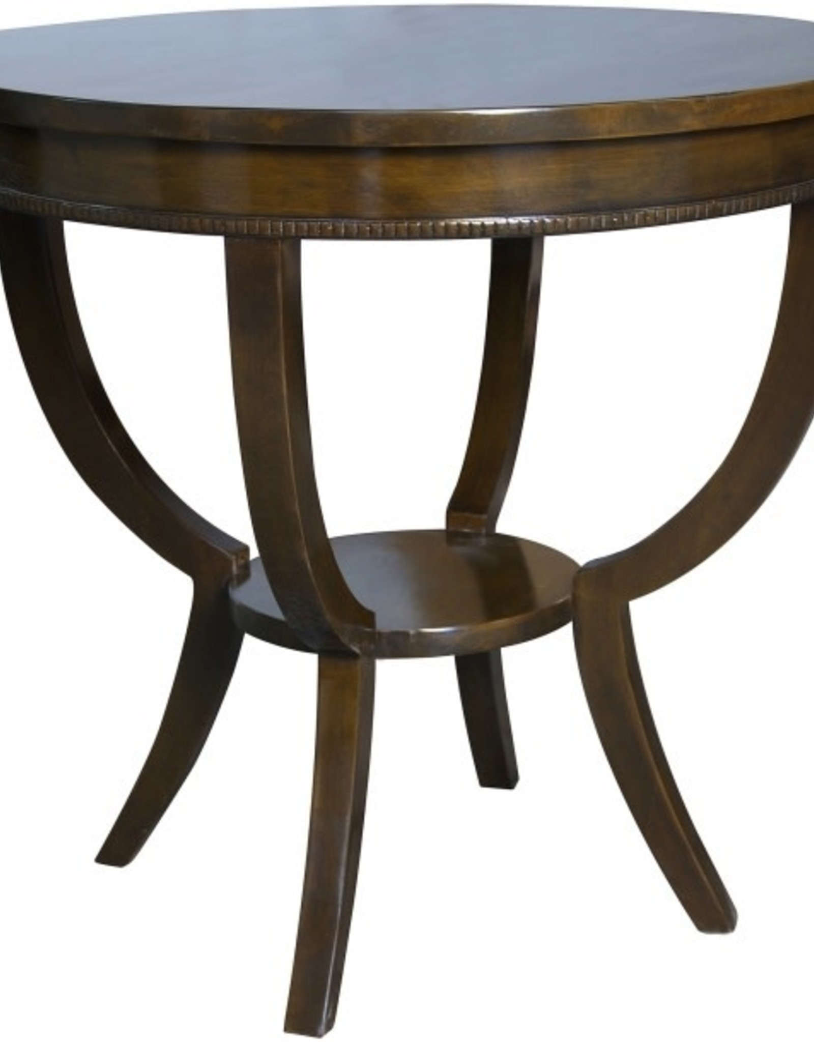Website Scheffield Round End Table - Distressed Brown