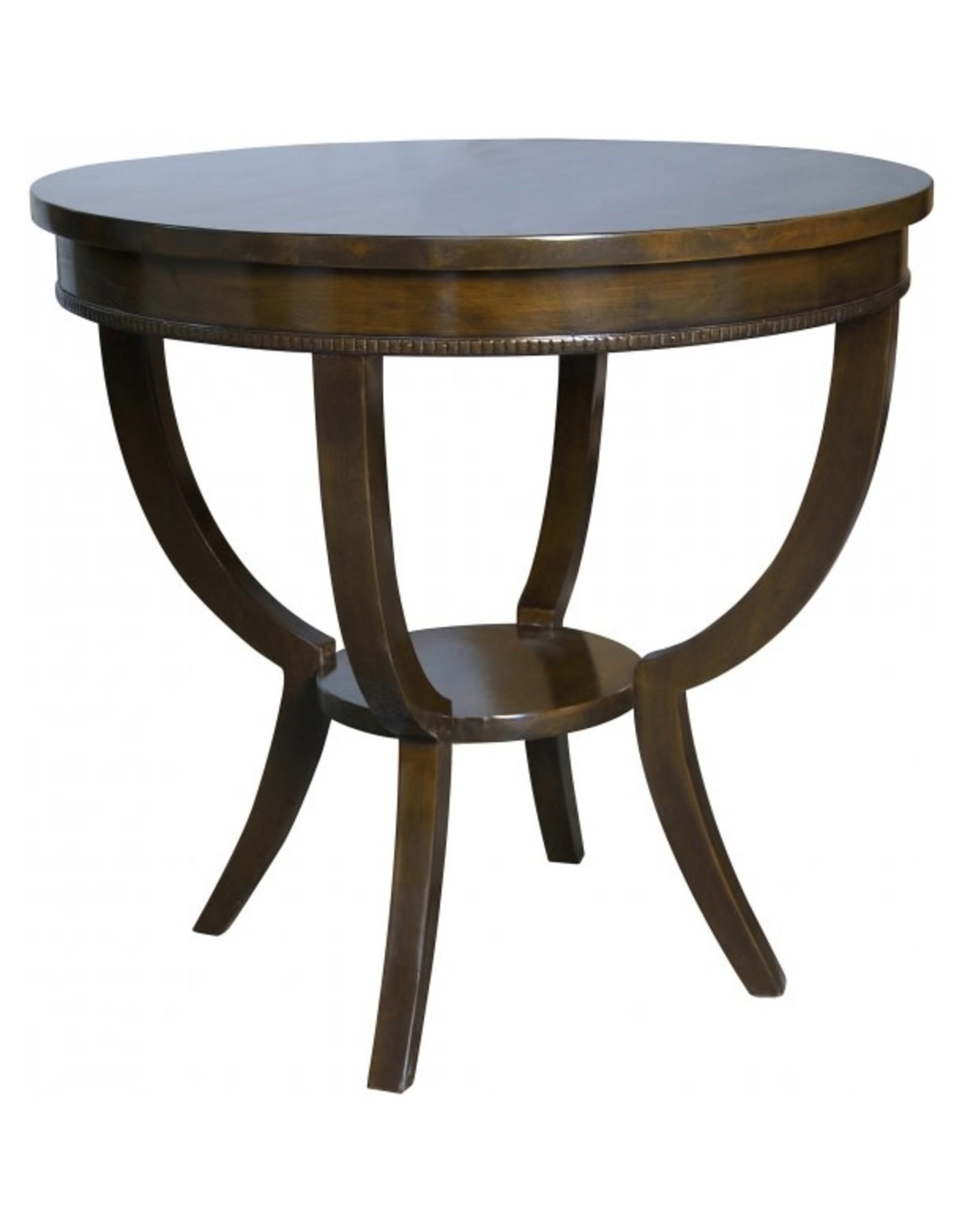 Website Noir Scheffield Round End Table - Distressed Brown
