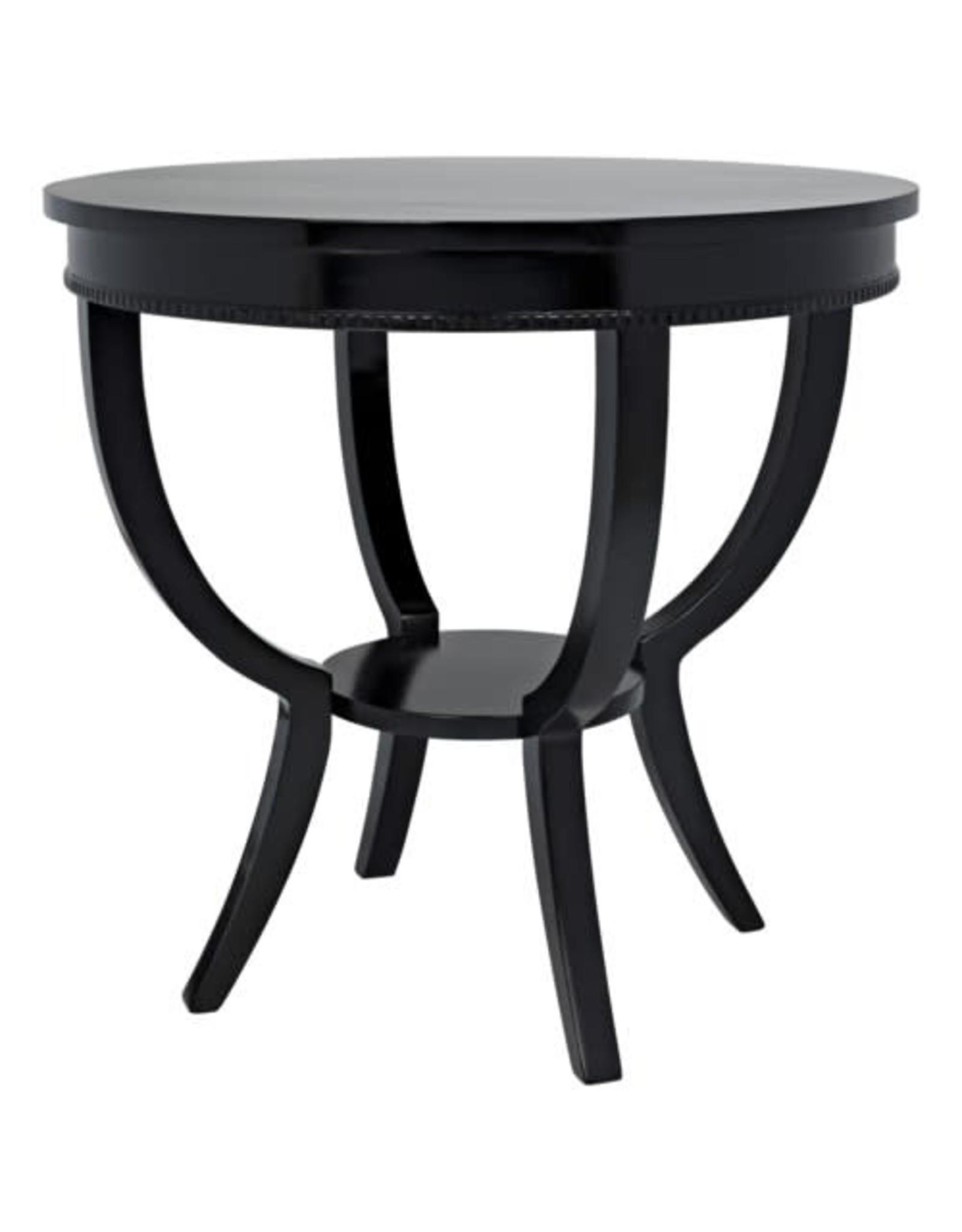 Website Scheffield Round End Table - Black