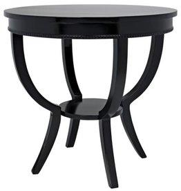 Website Noir Scheffield Round End Table - Black