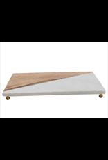 Marble & Mango Wood Board w/ Brass Feet