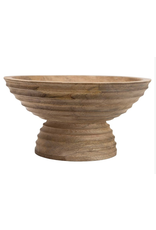 Website Mango Wood Ridged Footed Bowl