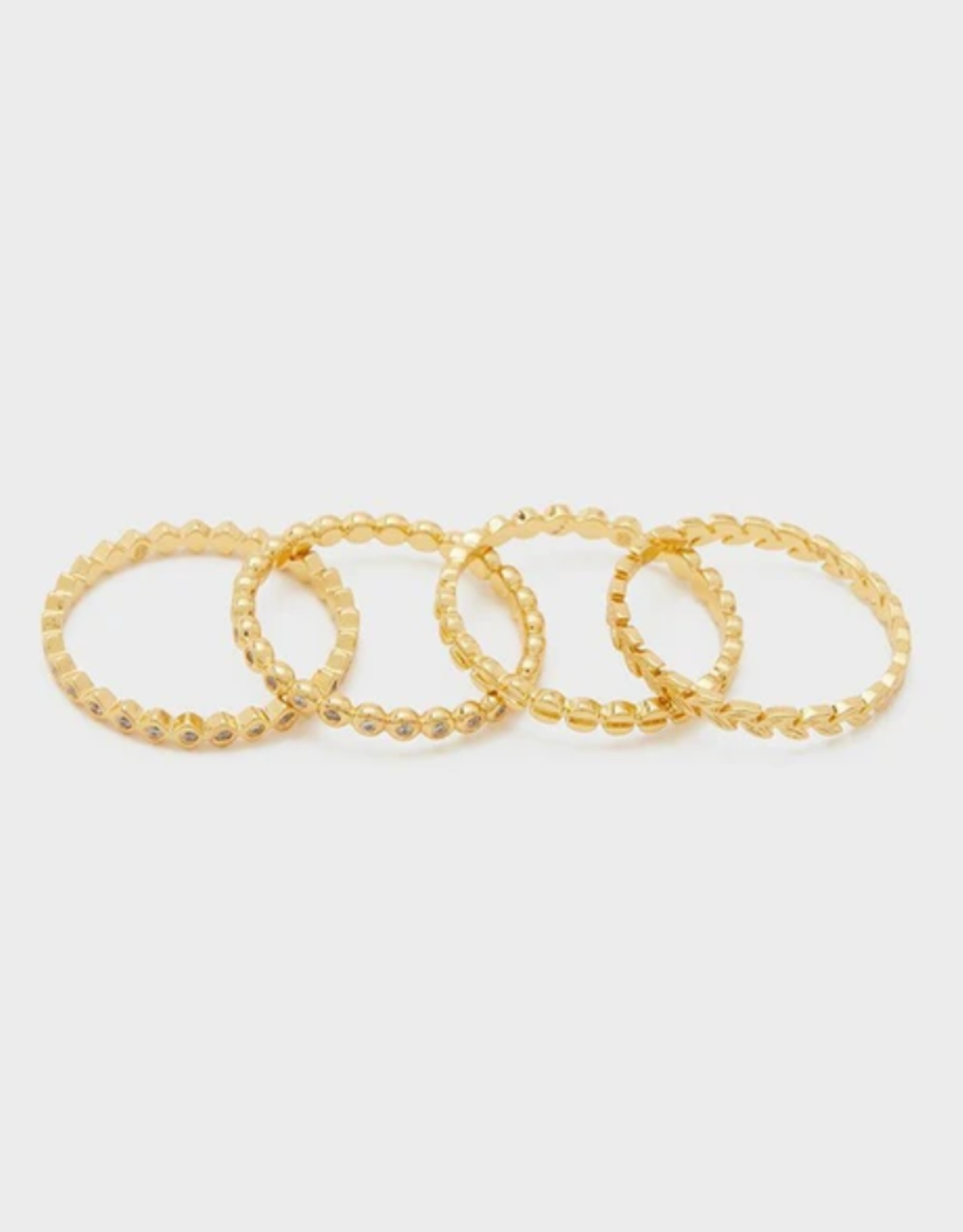 Website Mini Stackable Rings - gold/6