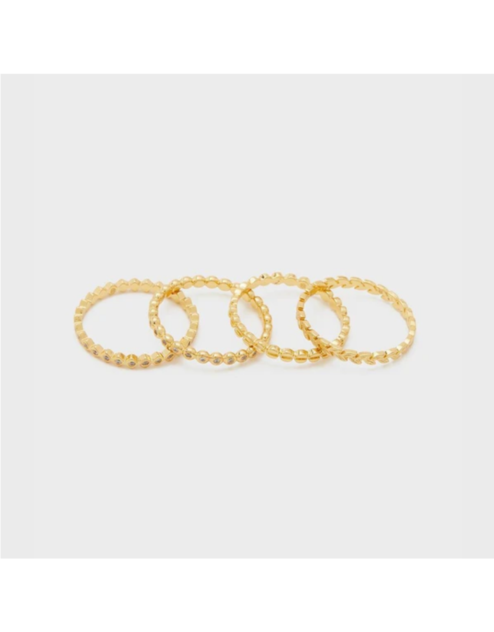 Mini Stackable Rings - gold/6