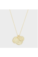 Ana Coin Pendant Necklace - gold