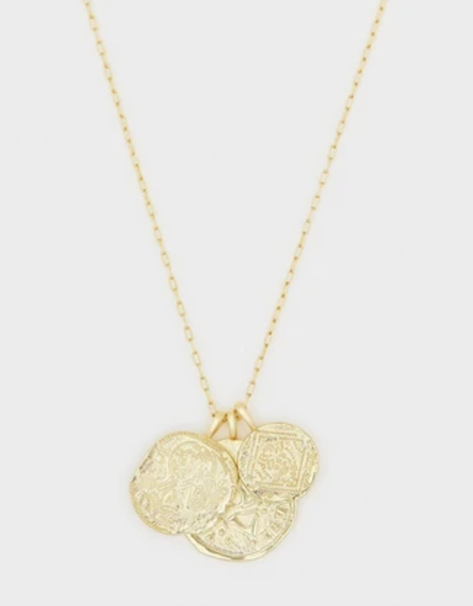 Website Ana Coin Pendant Necklace - gold