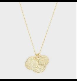 Ana Coin Pendant Necklace - gold