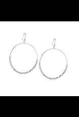 Laguna Drop Hoops - silver