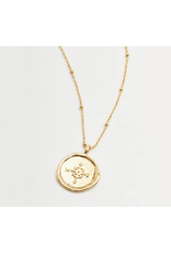 Compass Coin Necklace in Gold