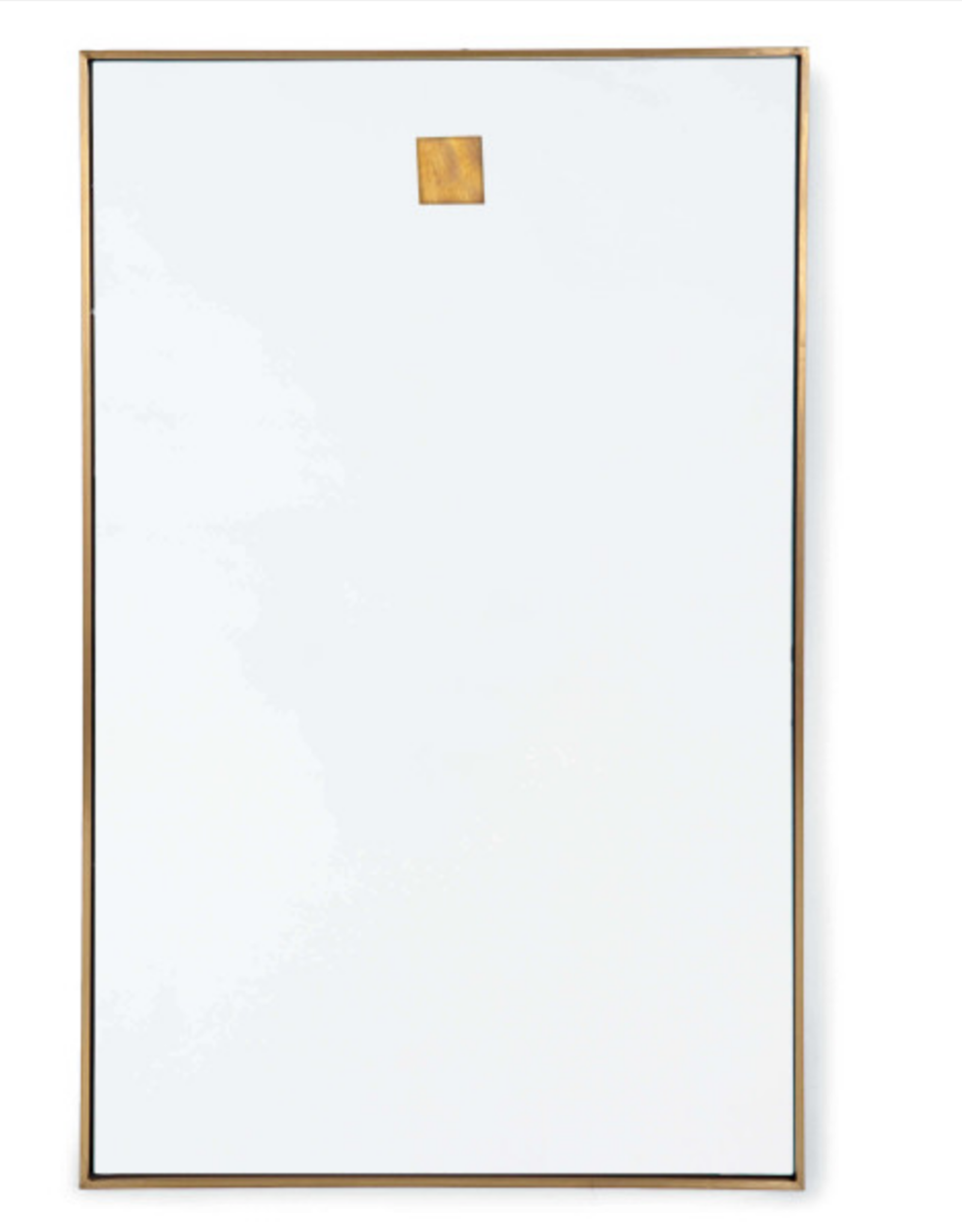 Website Hanging Rectangle Mirror - Natural Brass