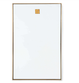 Website Hanging Rectangle Mirror - Natural Brass