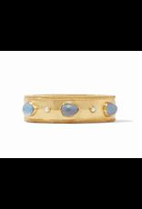 Cassis Statement Hinge Bangle - iridescent slate blue