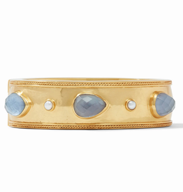 Website Cassis Statement Hinge Bangle - iridescent slate blue