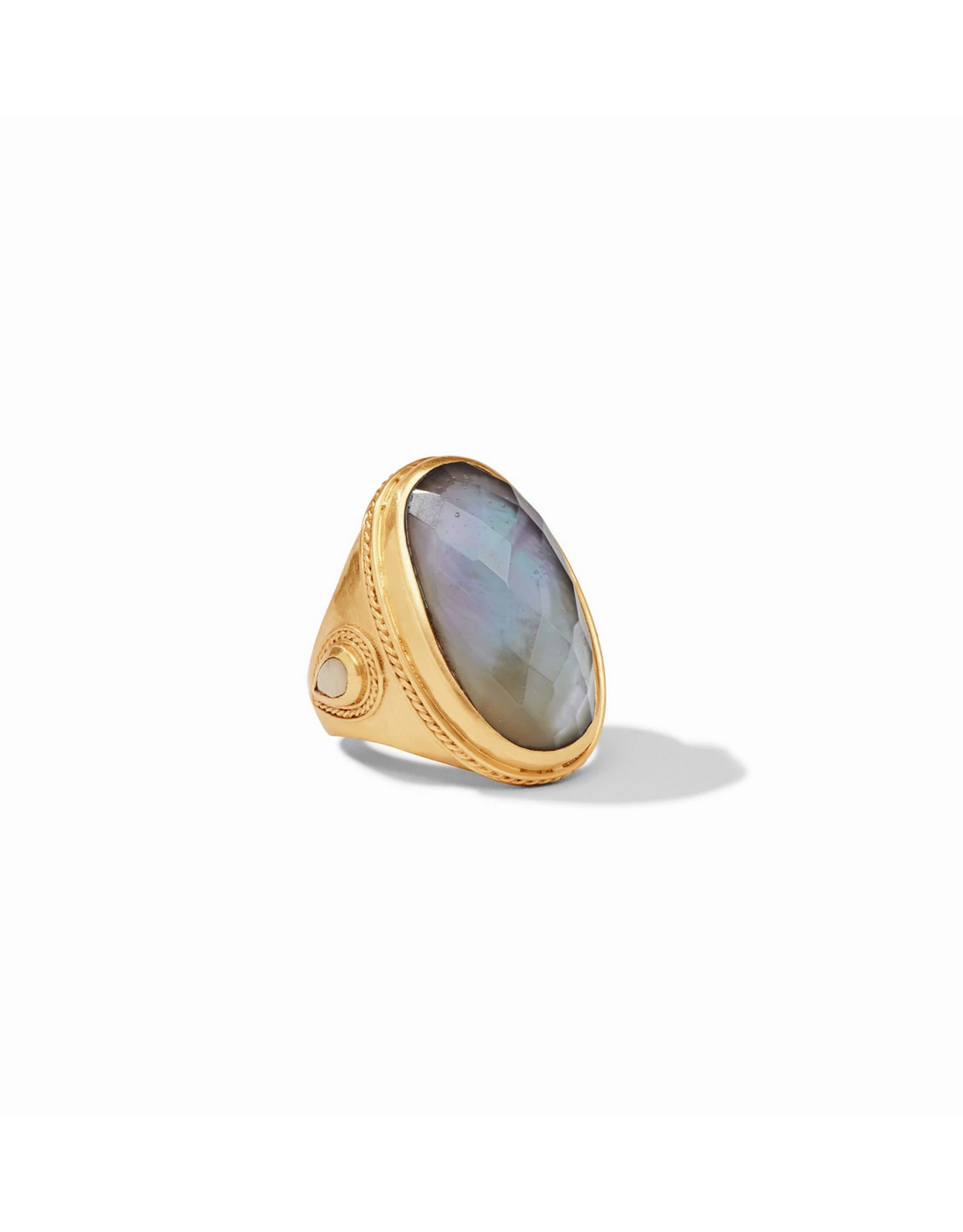 Cassis Statement Ring - iridescent slate blue / 8