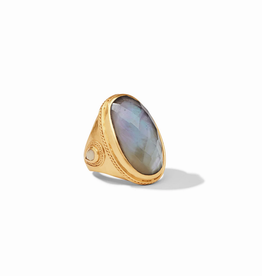 Website Cassis Statement Ring - iridescent slate blue / 8