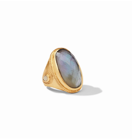Website Cassis Statement Ring - iridescent slate blue / 8