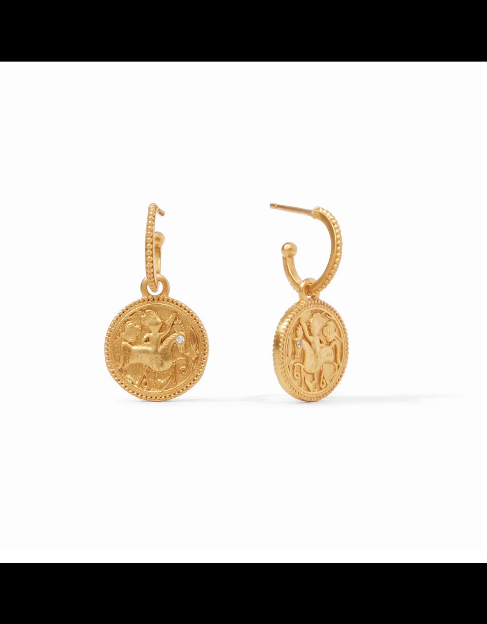 Website Coin Hoop & Charm Earring