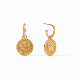Website Coin Hoop & Charm Earring
