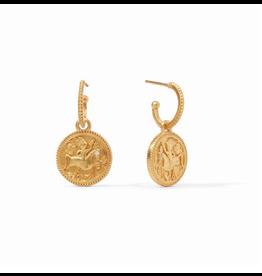 Coin Hoop & Charm Earring