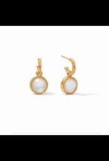 Website Fleur-de-Lis Hoop & Charm Earring - iridescent clear crystal