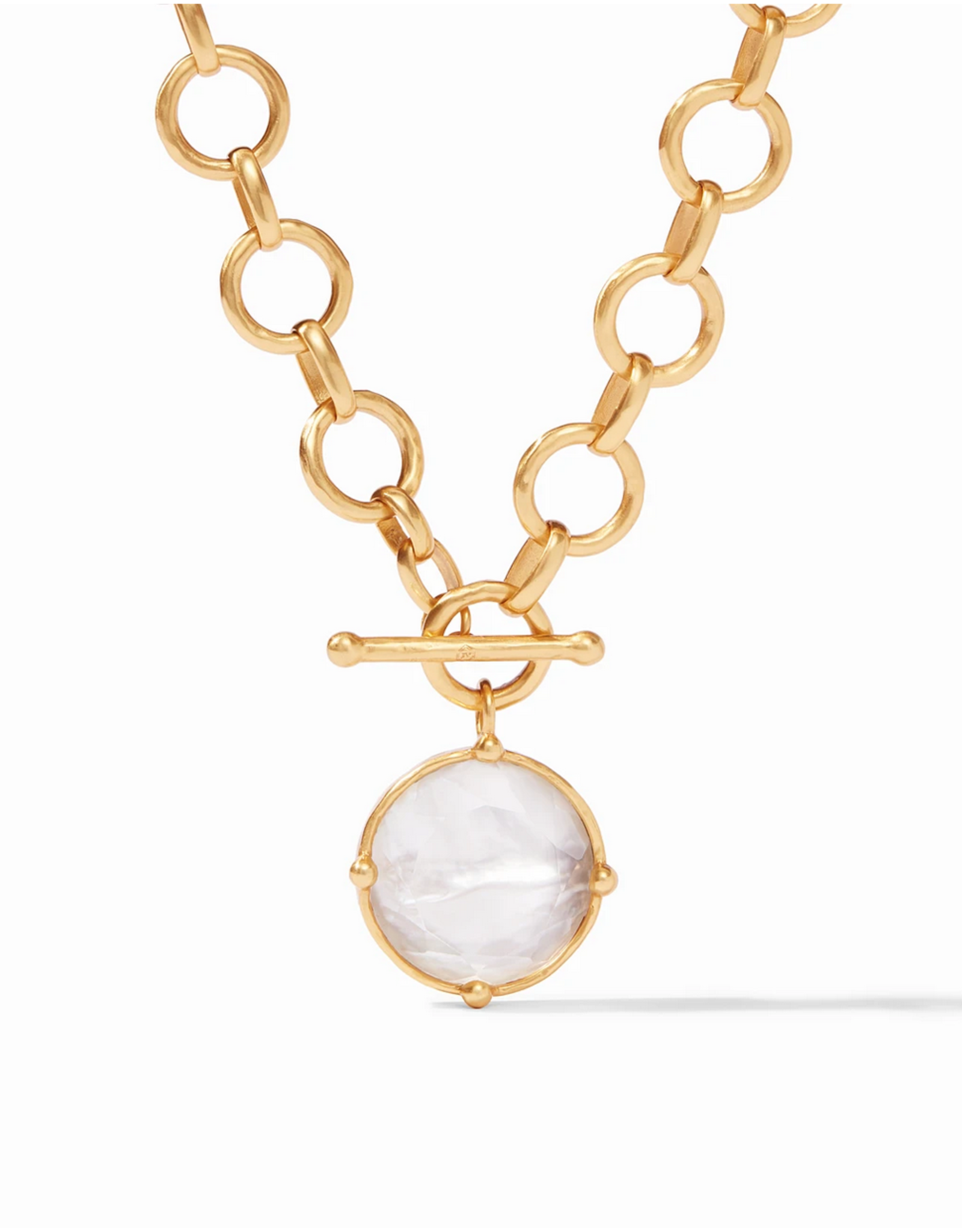 Website Honeybee Statement Necklace - iridescent clear crystal