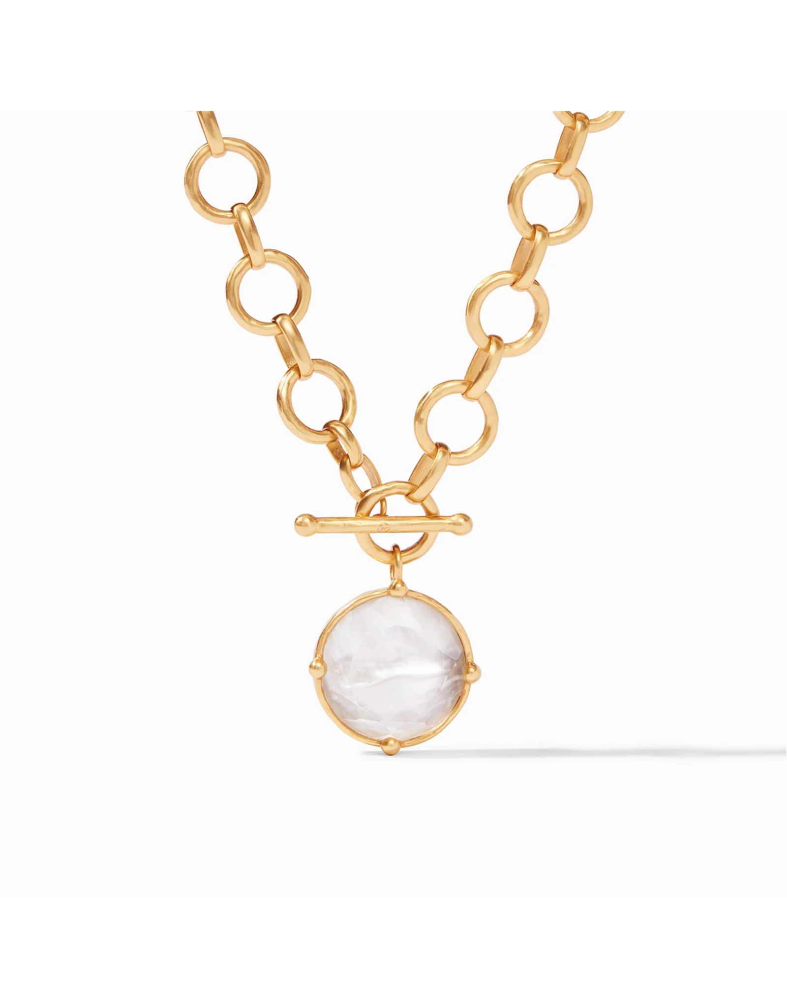 Honeybee Statement Necklace - iridescent clear crystal