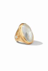 Website Cassis Statement Ring - iridescent clear crystal / 7