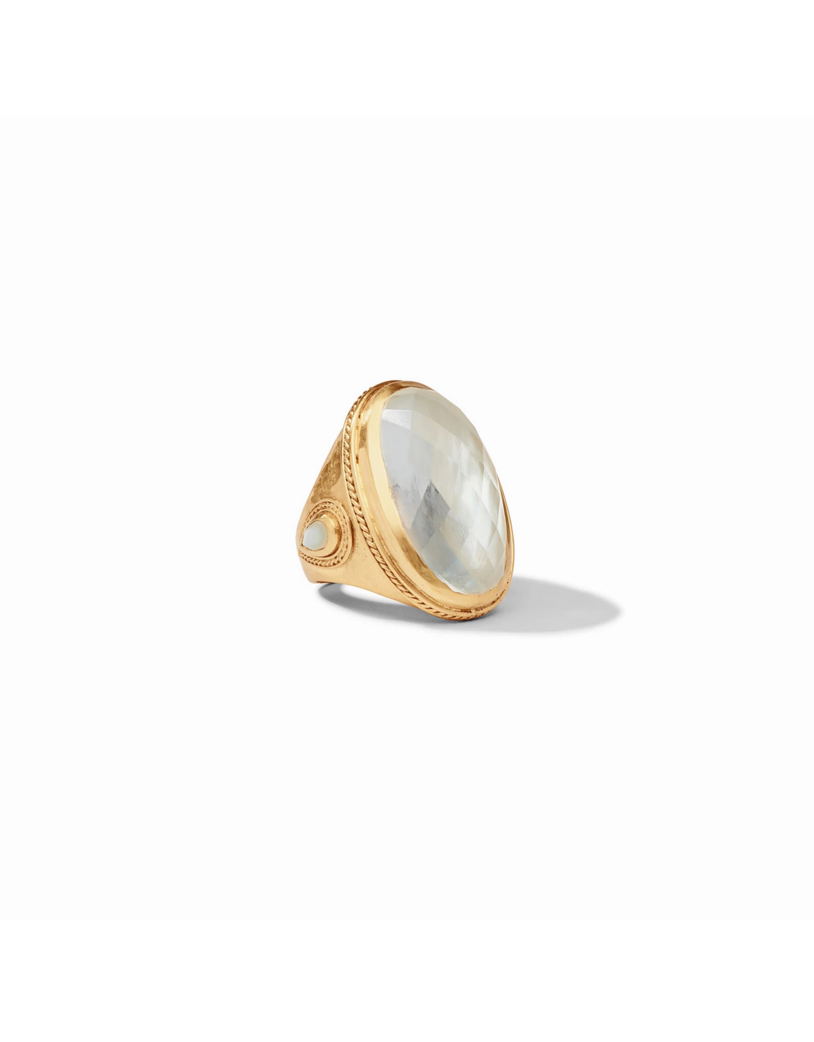 Cassis Statement Ring - iridescent clear crystal / 7