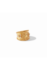 Coin Crest Ring  Gold- Size 7