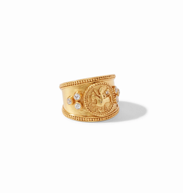 Website Coin Crest Ring  Gold- Size 7