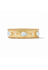 Website Cassis Statement Hinge Bangle - iridescent clear crystal