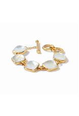 Catalina Bracelet Gold - iridescent clear crystal