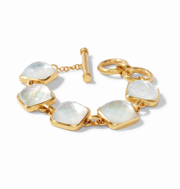 Website Catalina Bracelet Gold - iridescent clear crystal