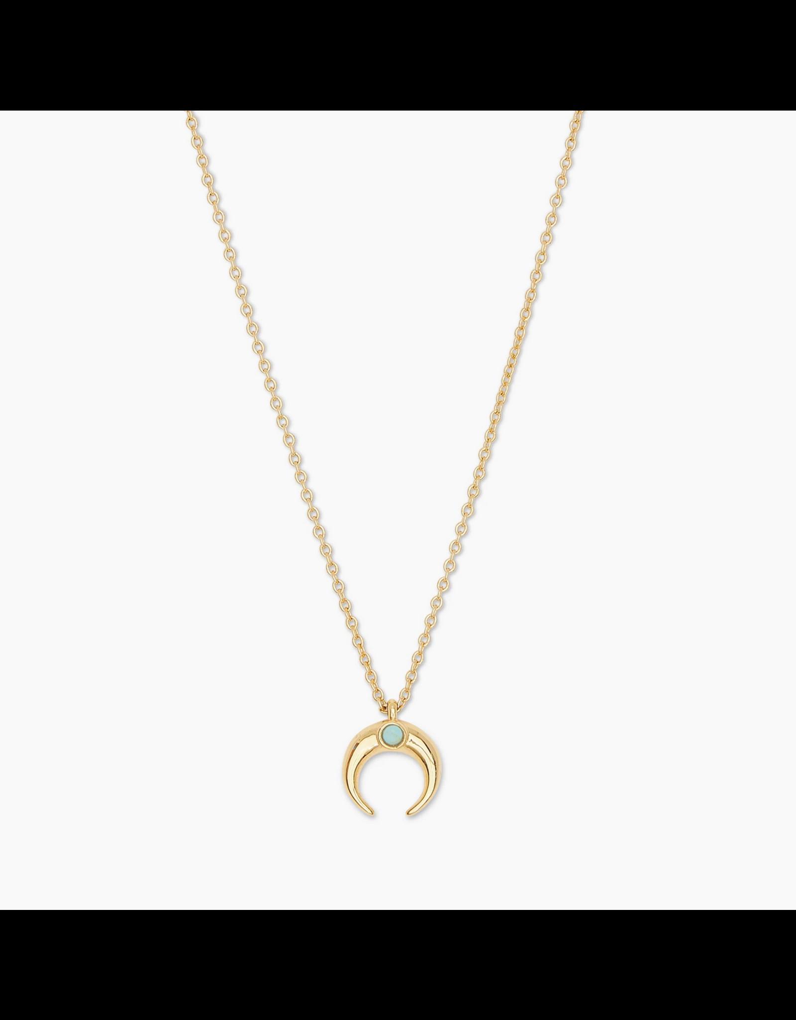Website Cayne Crescent Charm Adjustable Necklace